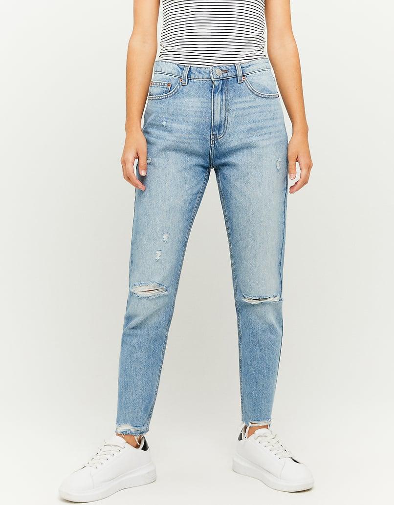 Jeans Mom a Vita Alta