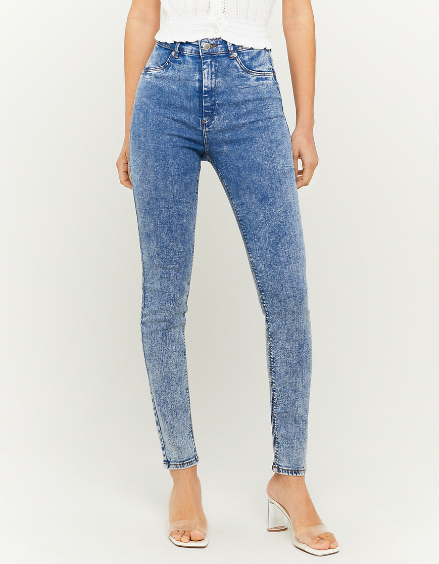 Jeansy rurki z wysokim stanem - Push Up Skinny