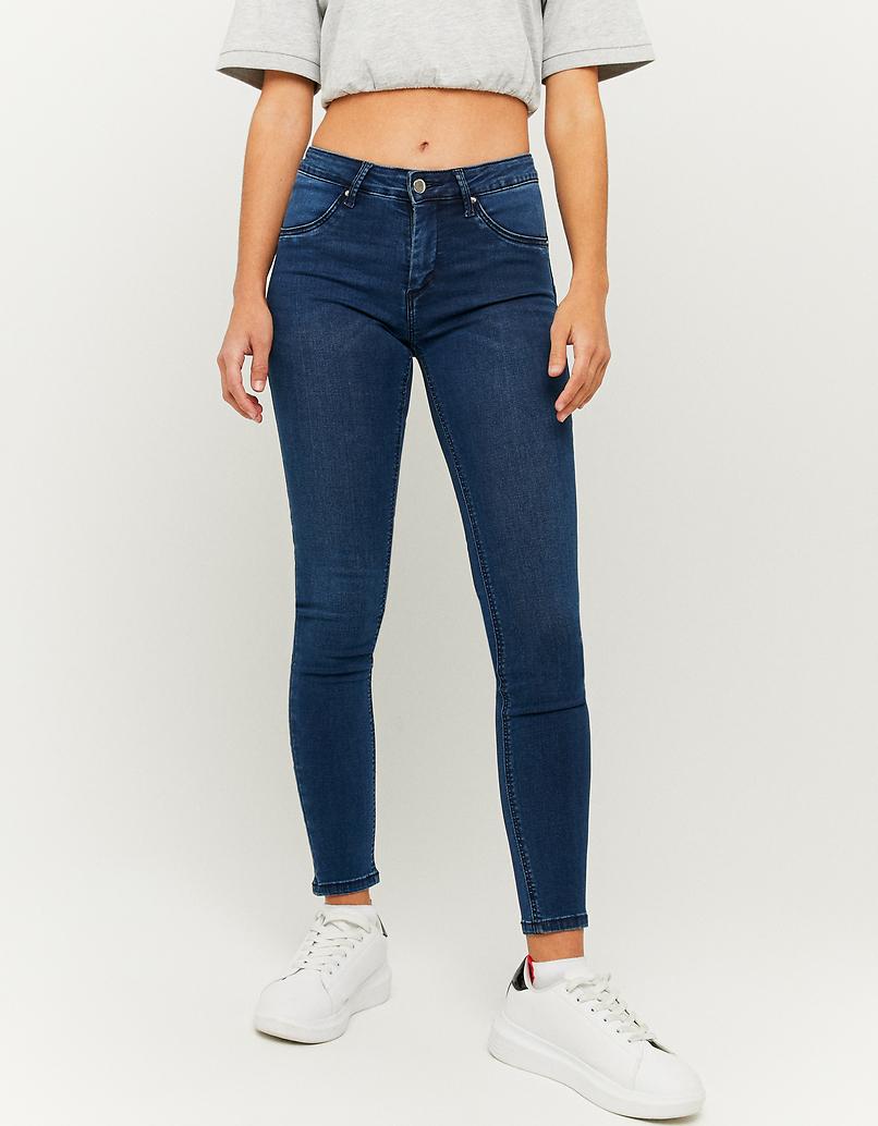 Jean Skinny Push Up Taille Mi-Haute