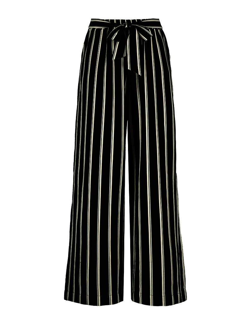 Pantalon Jambe Large Rayé