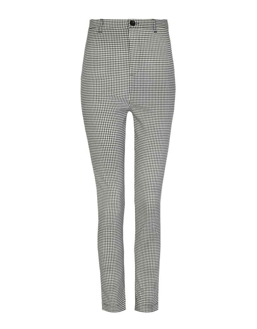 Pantalon Skinny Pied-de-Poule
