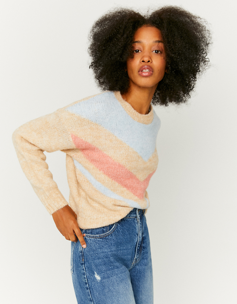 Pullover mit Zackenmuster