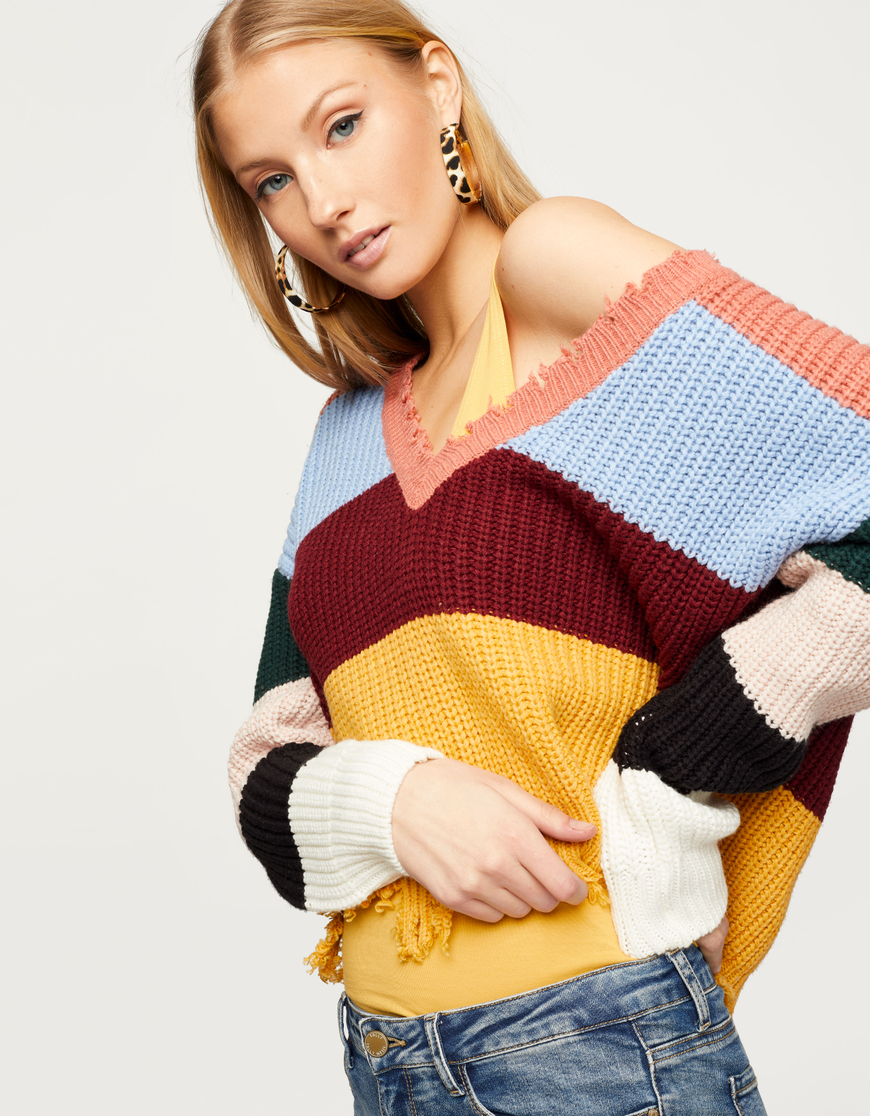 Multicolor Destroyed Jumper