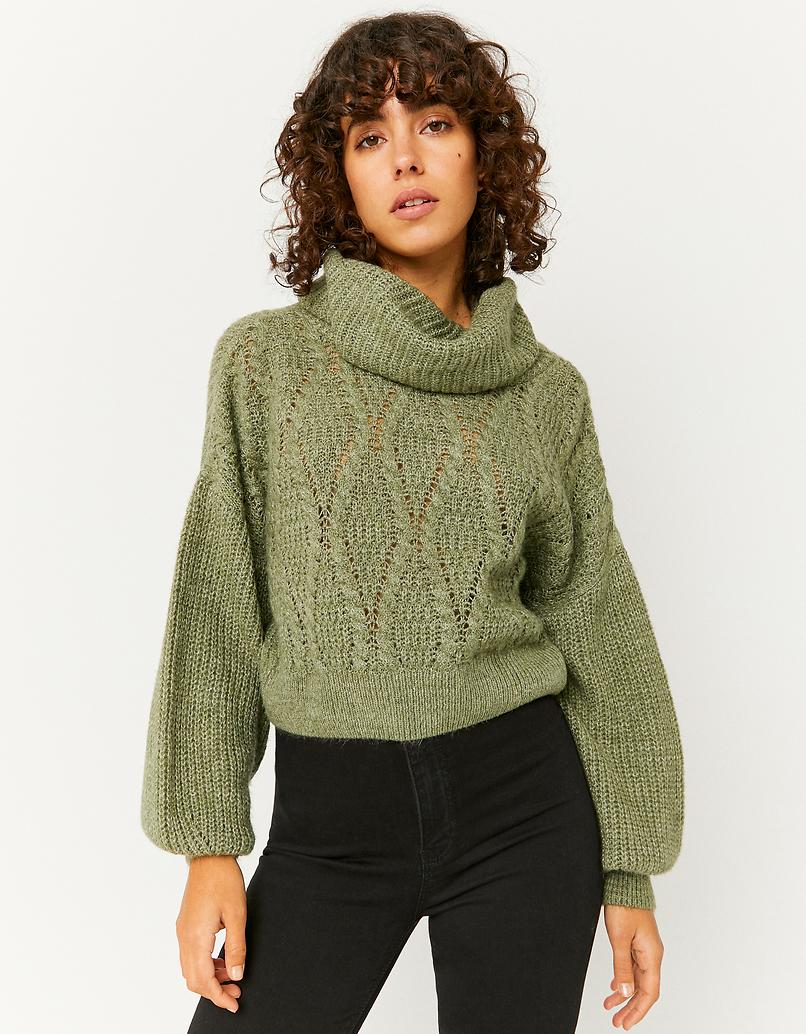 Zielony krótki sweter - Cropped