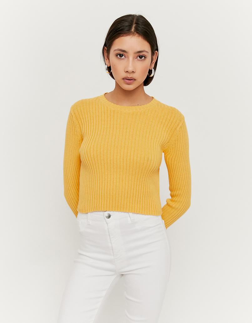 Kurzer Pullover aus Feinstrick