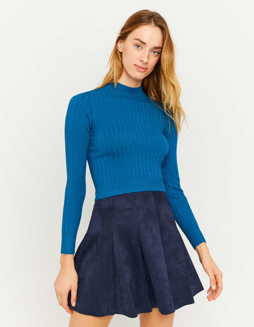 Blue Fitted Jumper