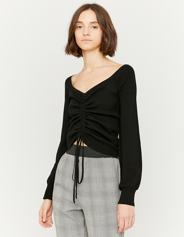 Black Lacing Jumper
