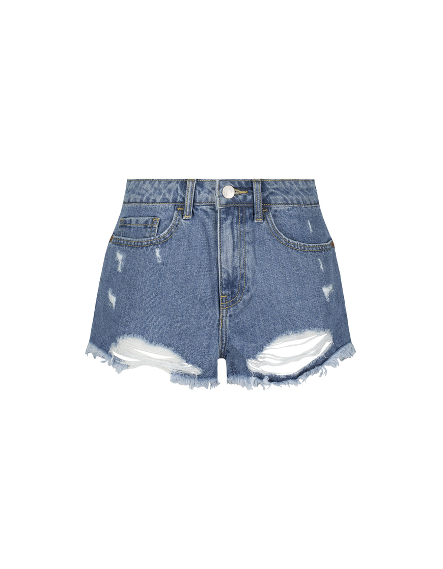 Blaue Destroy Shorts