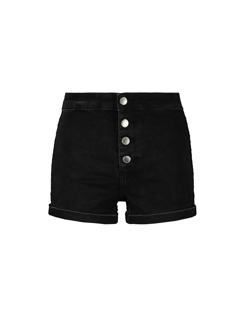 High Waist Denim Shorts mit Knöpfen