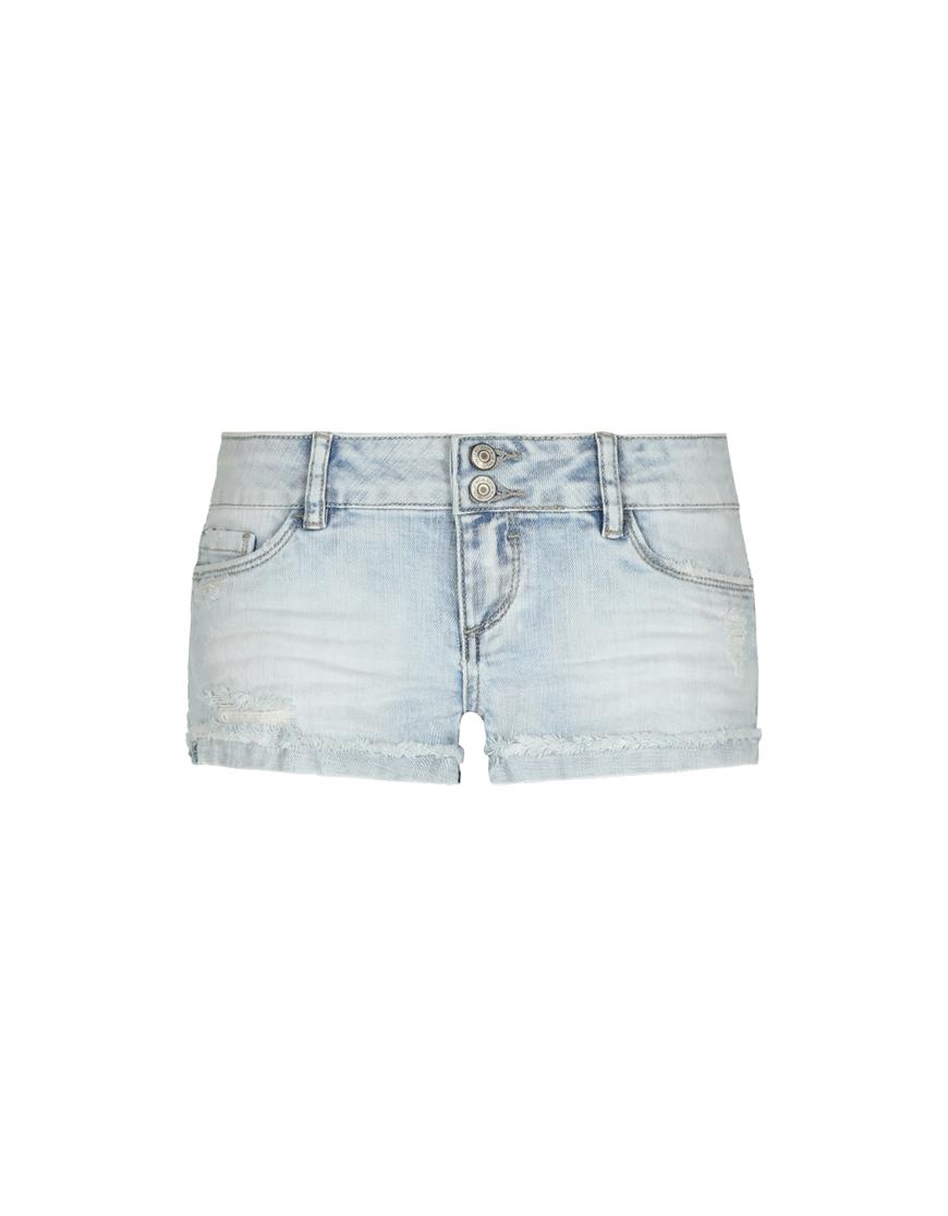 Hellblaue Denim Shorts