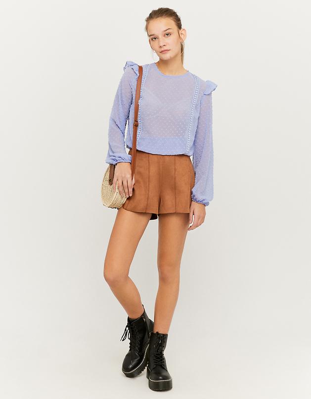 Shorts aus Wildlederoptik