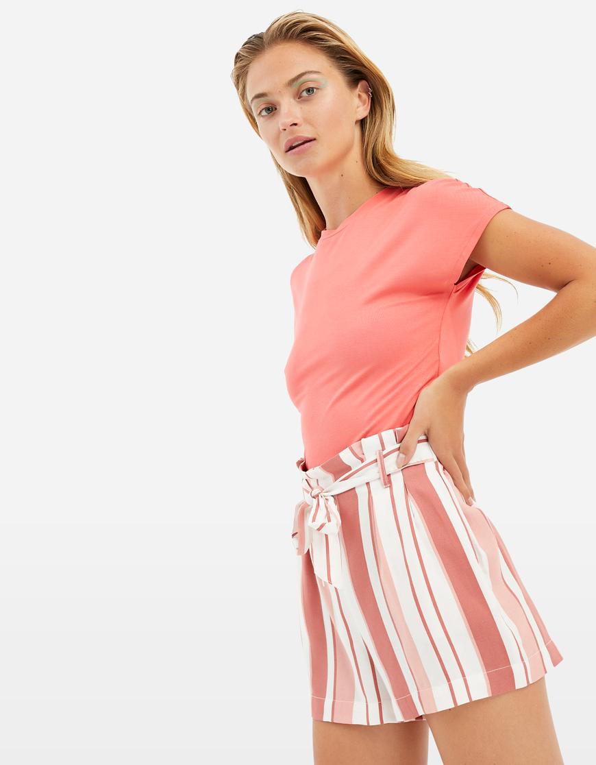 Pantaloncini Paperbag a Righe