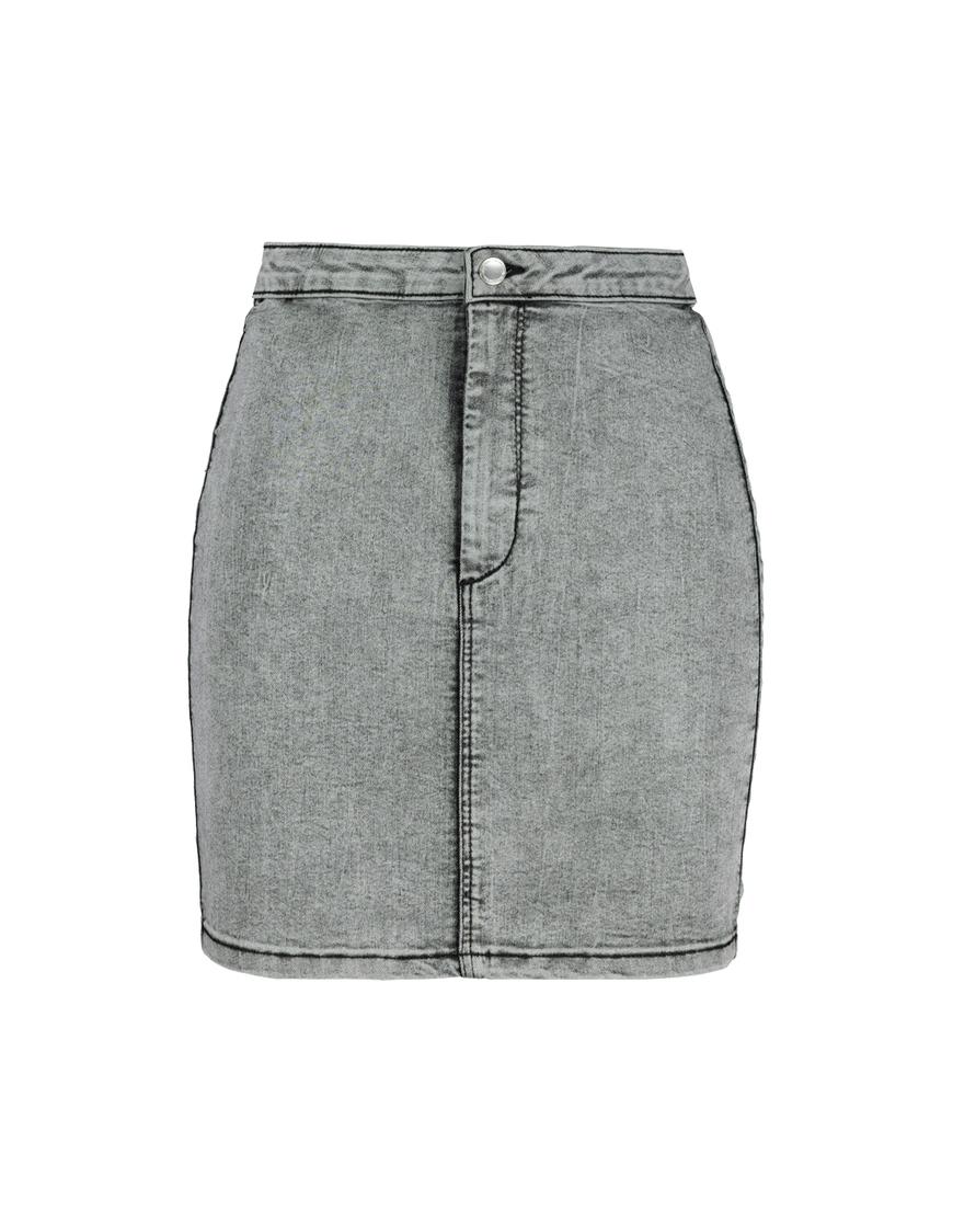 Stretch Black Denim Skirt