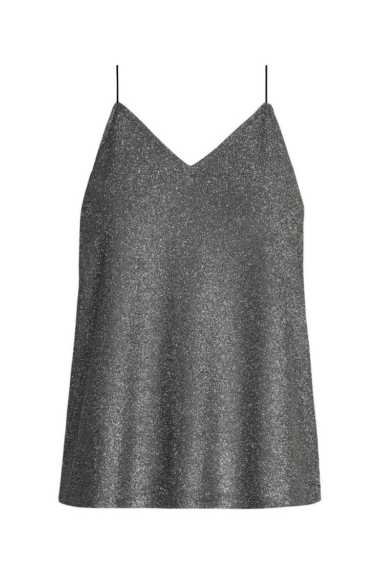 Silver Lurex Top