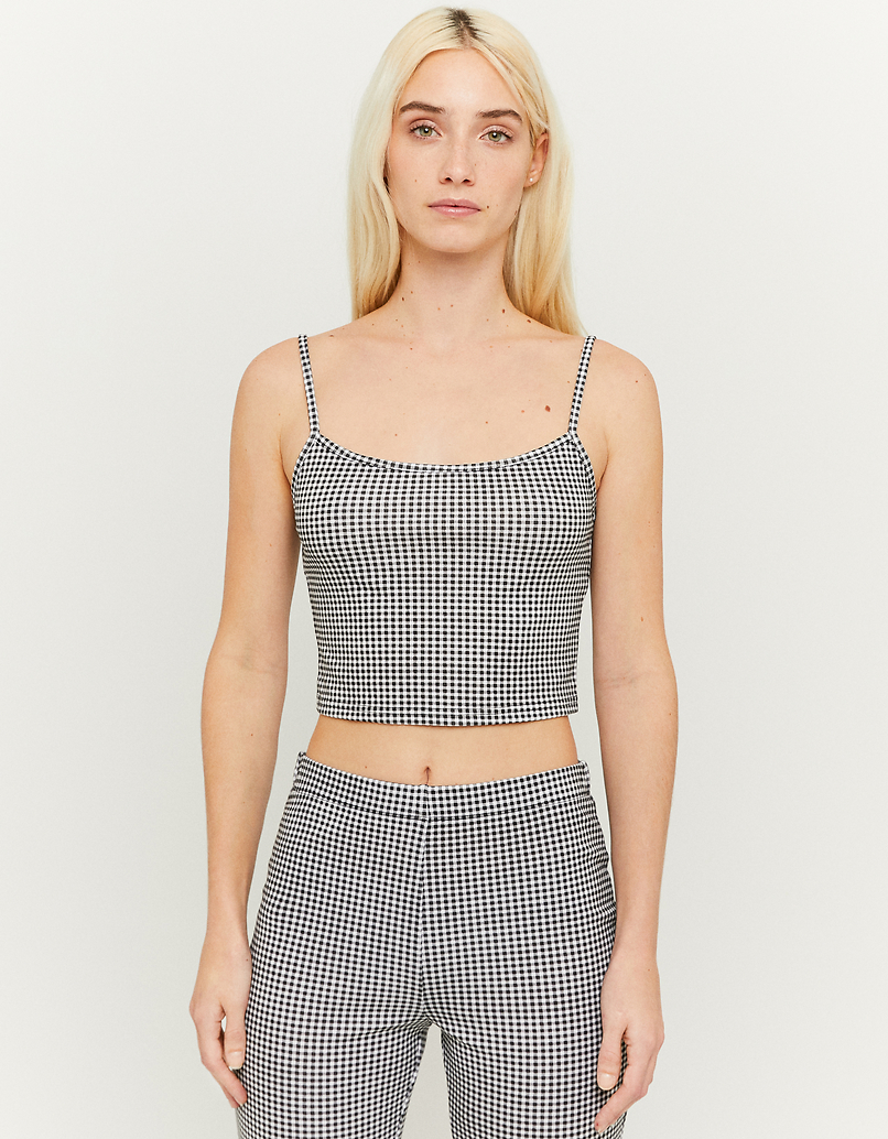 Crop Top a Quadretti