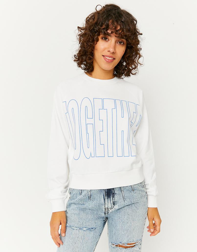 White Printed Sweatshirt