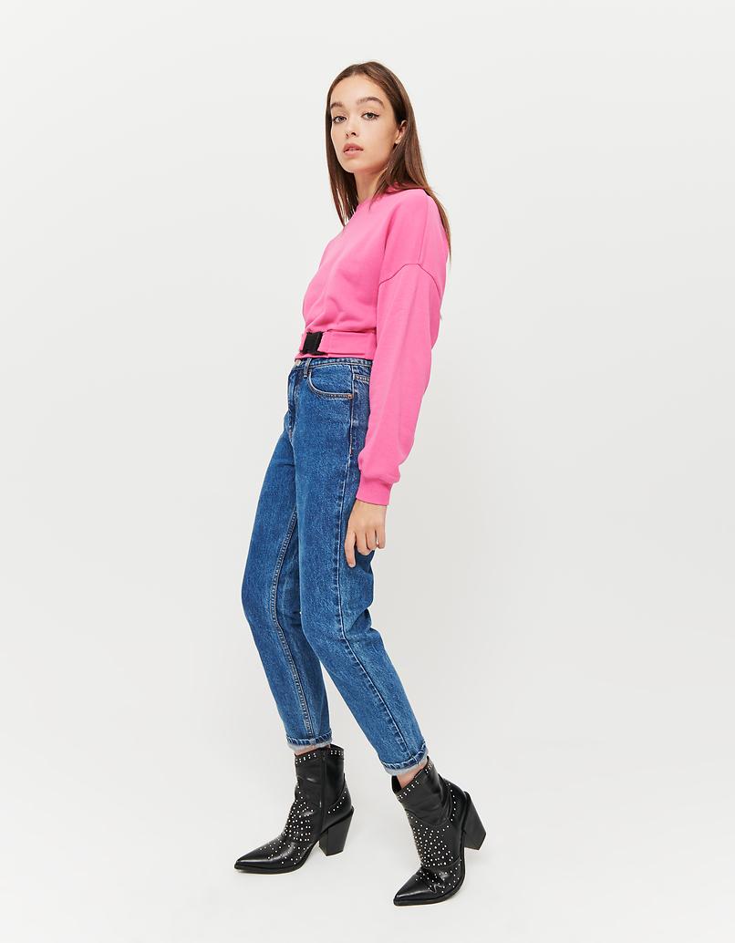 Neon Pink Sweatshirt with Buckle