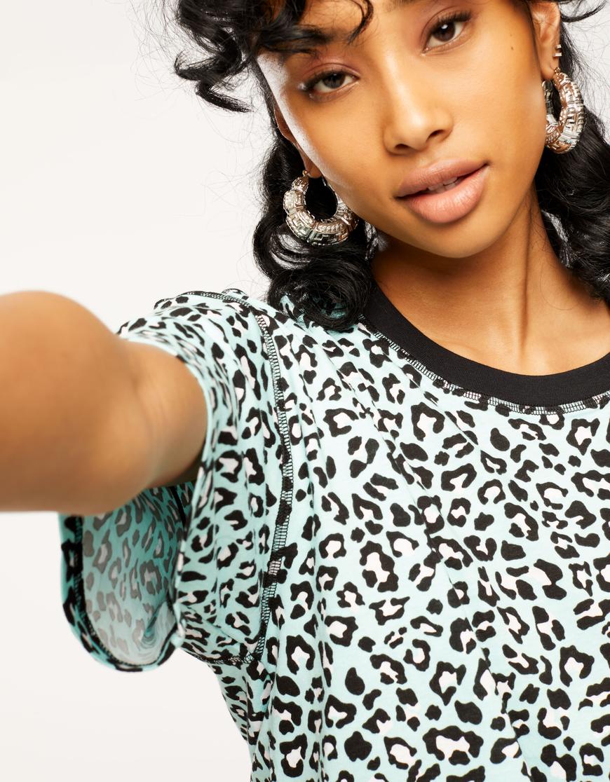 T-shirt Leopardata