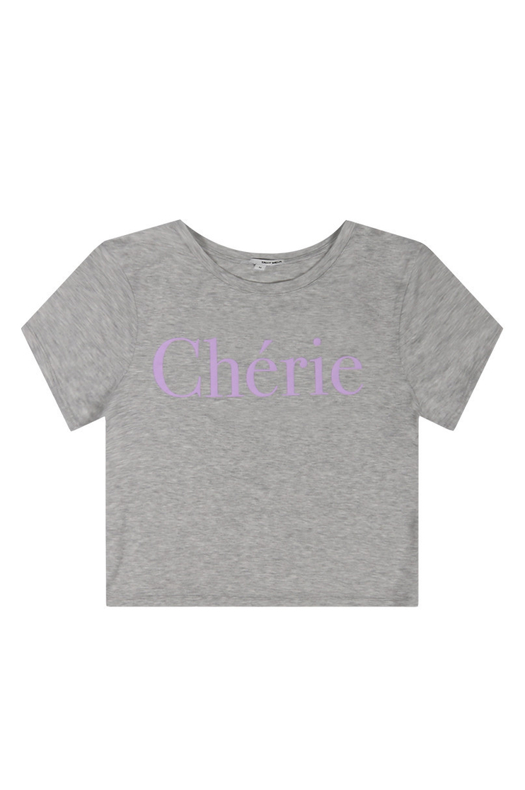 "Grey ""Chérie"" Top"