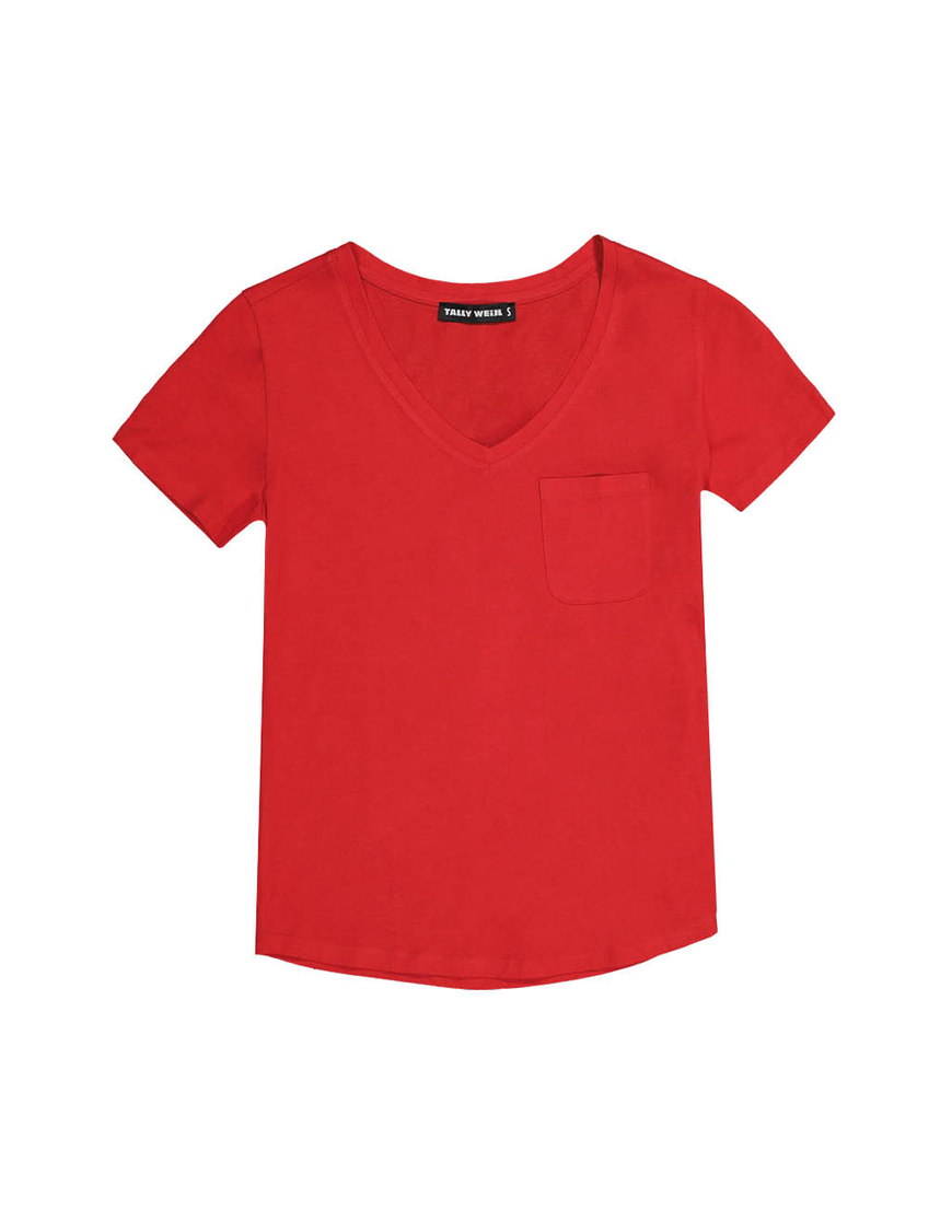 Red Top with Pocket