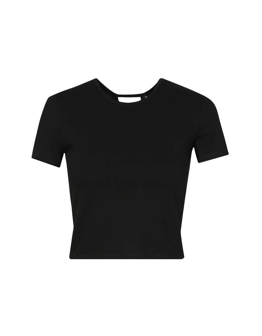 T-shirt Nera con Incroci