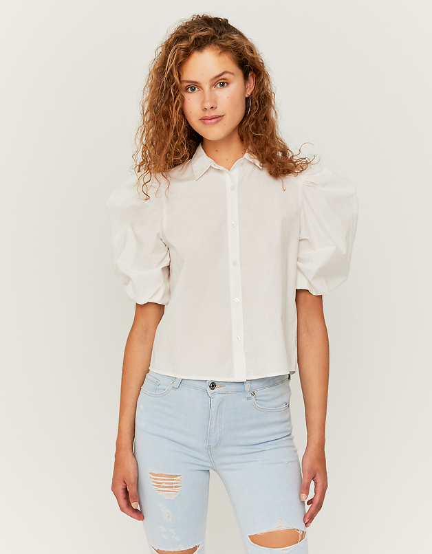Chemise Blanche Manches Bouffantes
