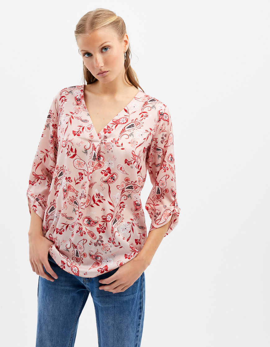 Pink Paisley Blouse