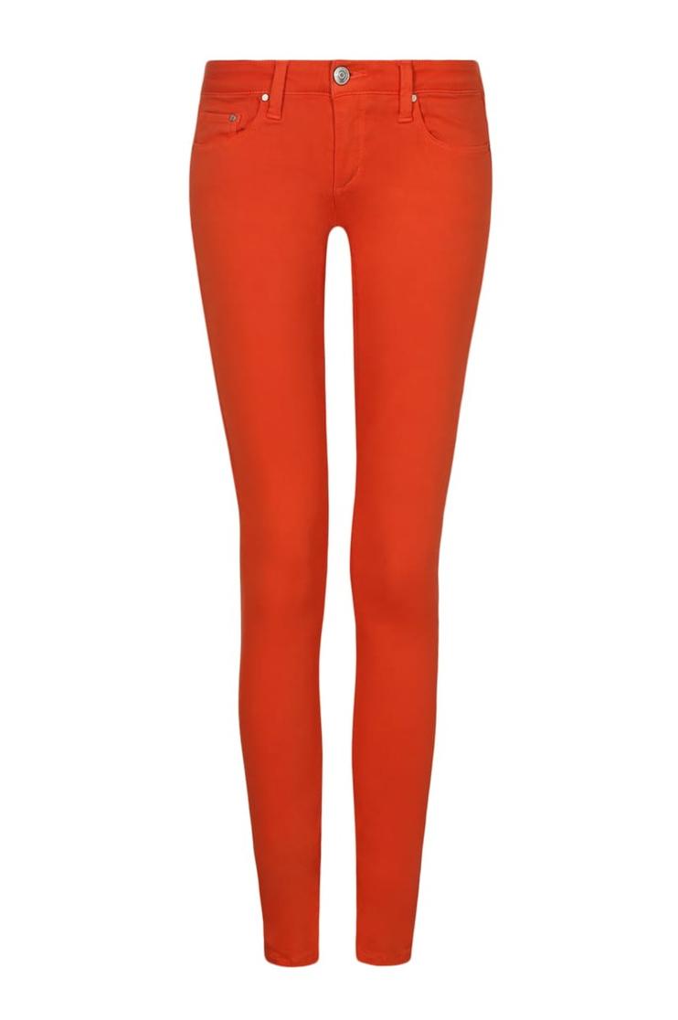 Orangefarbene Skinny-Jeans