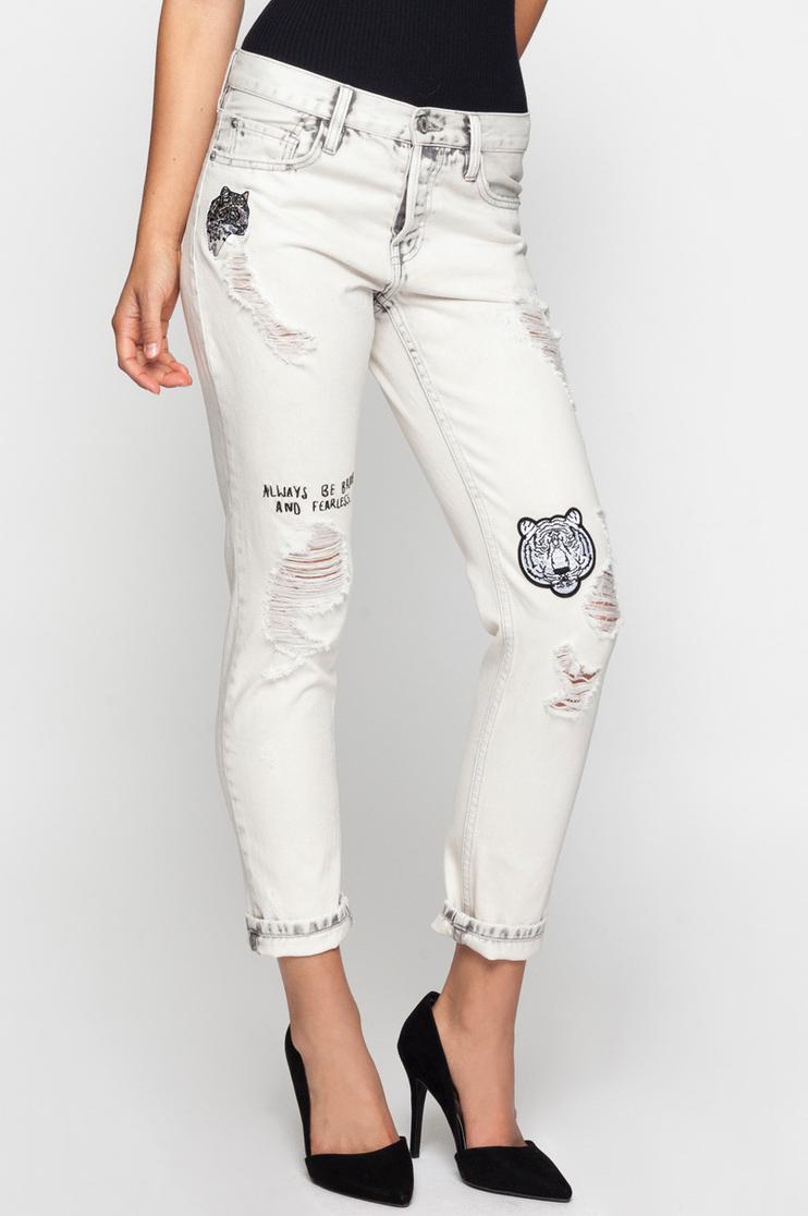 Off-White Tiger Boyfriend Jeans