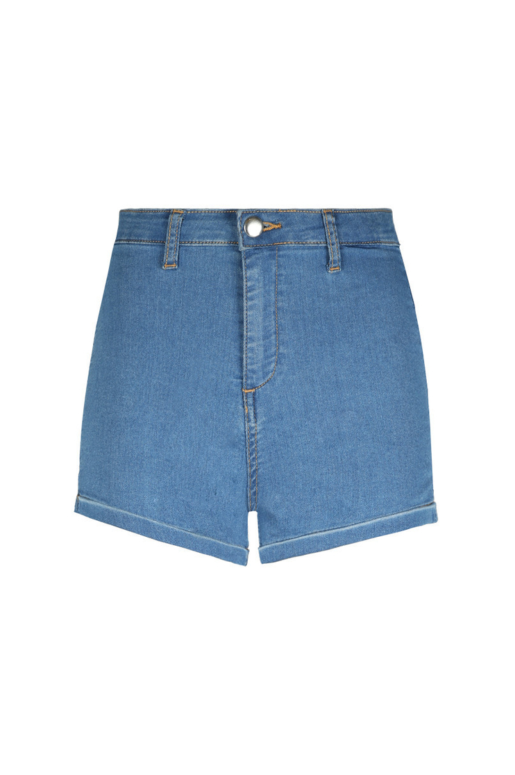 Blue Acid Wash Mini Shorts