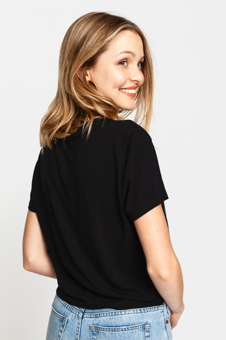 "Black ""Zip It"" T-Shirt"