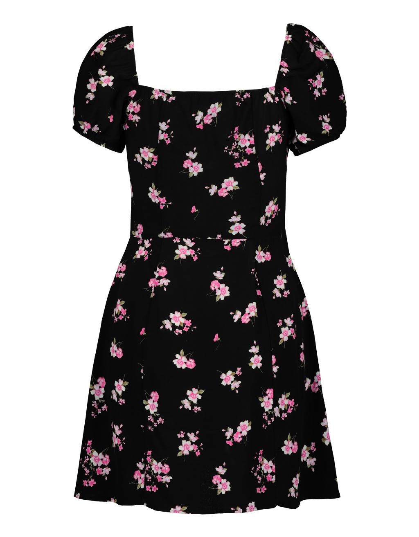 the best attitude c3024 c453e Schwarzes Kleid mit Blumen