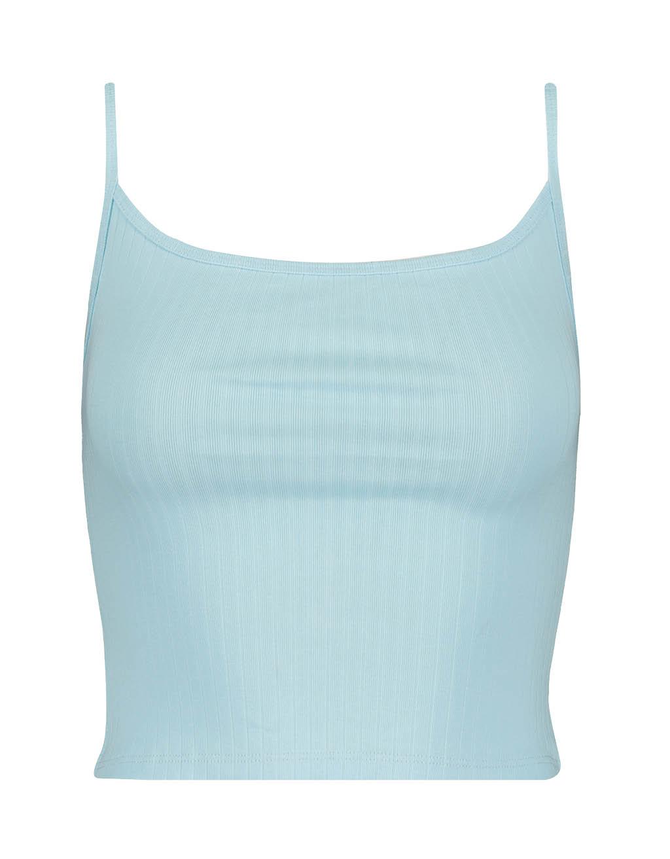e76c81116165af Niebieski top CROPPED | Sklep Internetowy TALLY WEIJL
