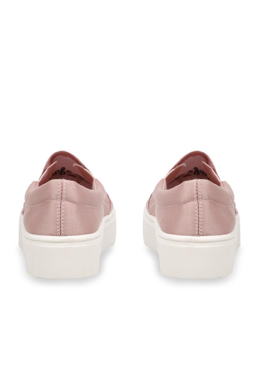 Pinkfarbene Sneakers mit Stickerei
