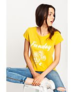 Yellow T-Shirt with Slogan