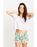 Crop Top T-Shirt Blanc