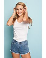 White Round Neck Basic Top