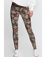Pantaloni Camo Skinny Destroyed