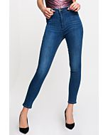 Blue High Waist Push-Up Jeans