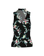Top Stampa Fiori con Cut Out