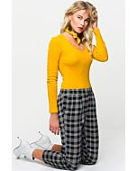 Yellow Basic Long Sleeve Top