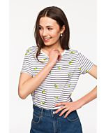 Stripe T-Shirt in Lemon Print