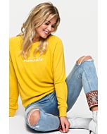 Yellow Top with Slogan