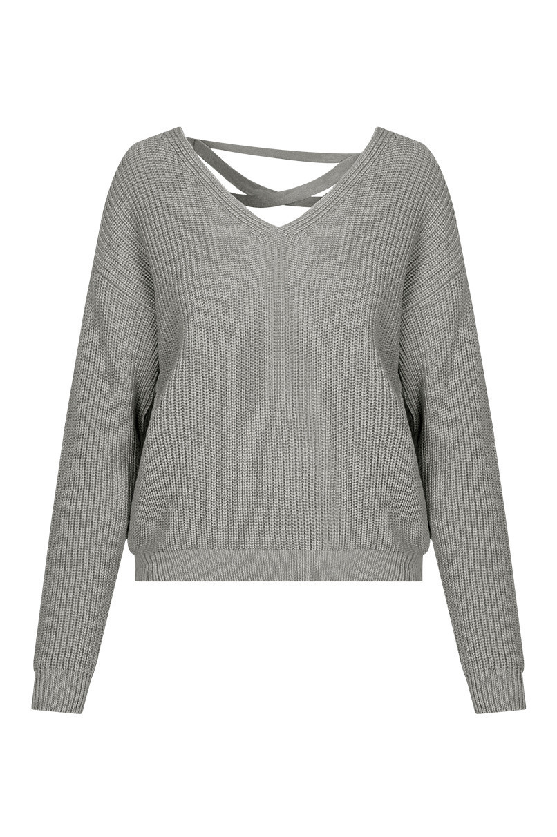 e24490656a01 Grey Knitted Jumper
