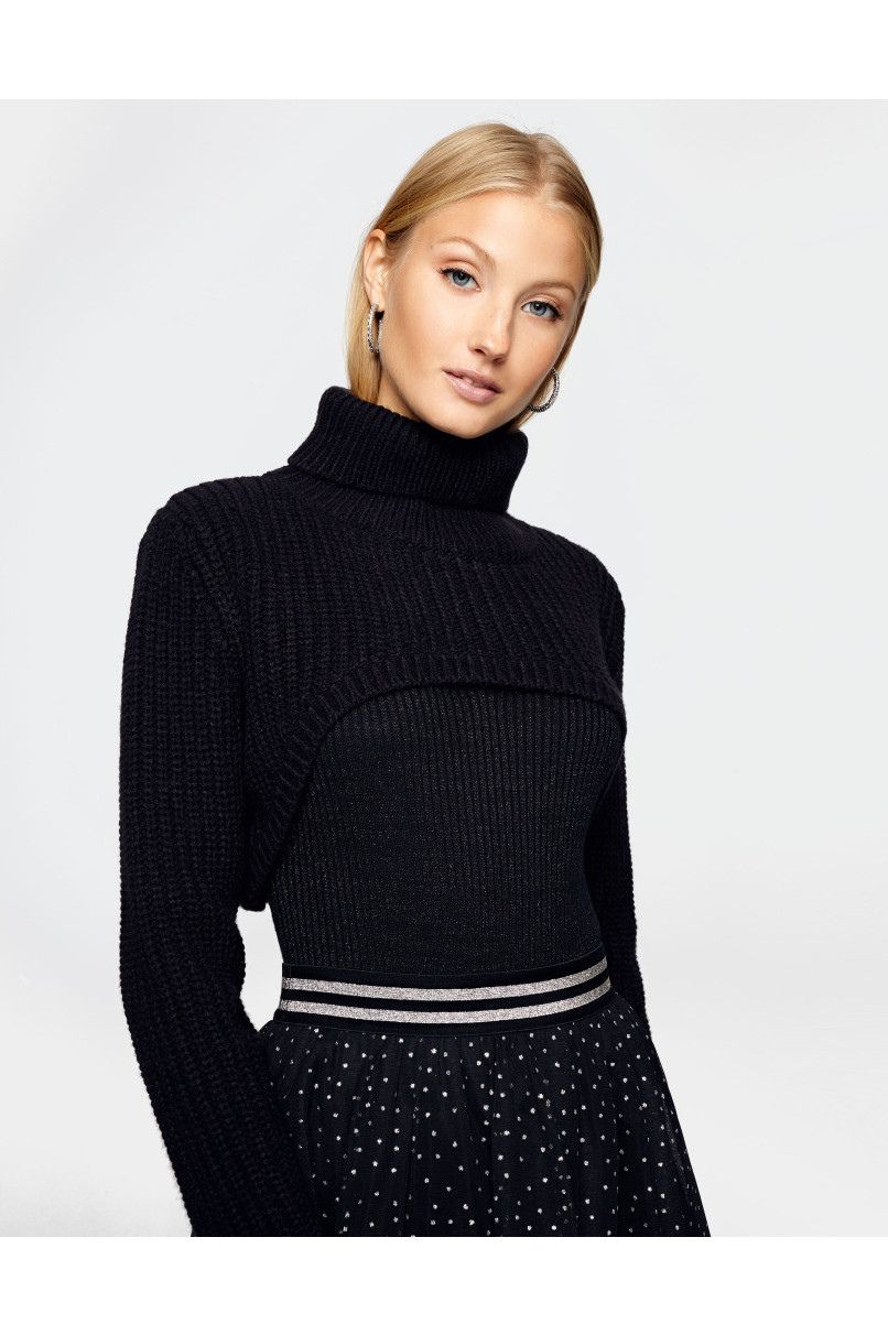 881b5d0920 Black Cropped Jumper - Jumpers - CLOTHING
