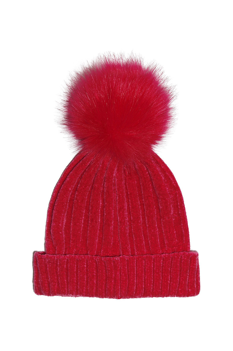 bf8139a362d Bright Pink Pom Pom Beanie - Hats - Hats