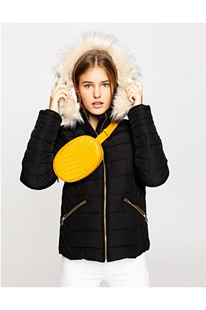 Black Puffer Jacket with Hood