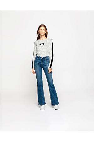 Jean Skinny Flare Taille Haute