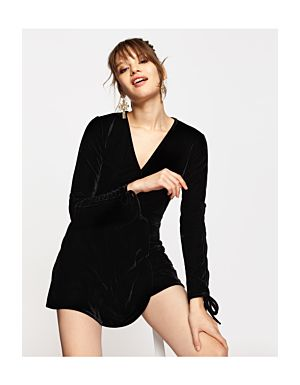 Black Velvet Playsuit