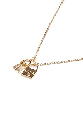 Padlock Pendant Necklace